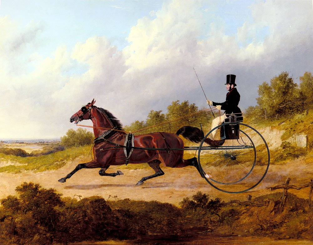 The Famous Trotter Confidence Drawing A Gig | John Frederick Snr Herring | Oil Painting