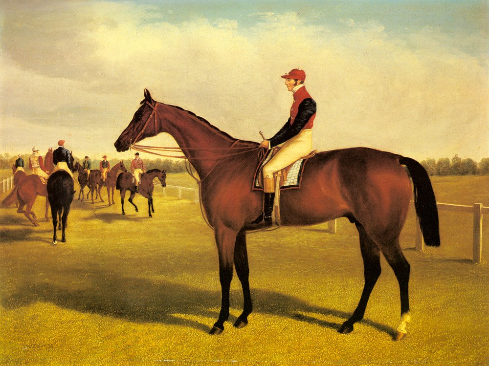 Don John The Winner Of The 1838 St Leger With William Scott Up | John Frederick Snr Herring | Oil Painting