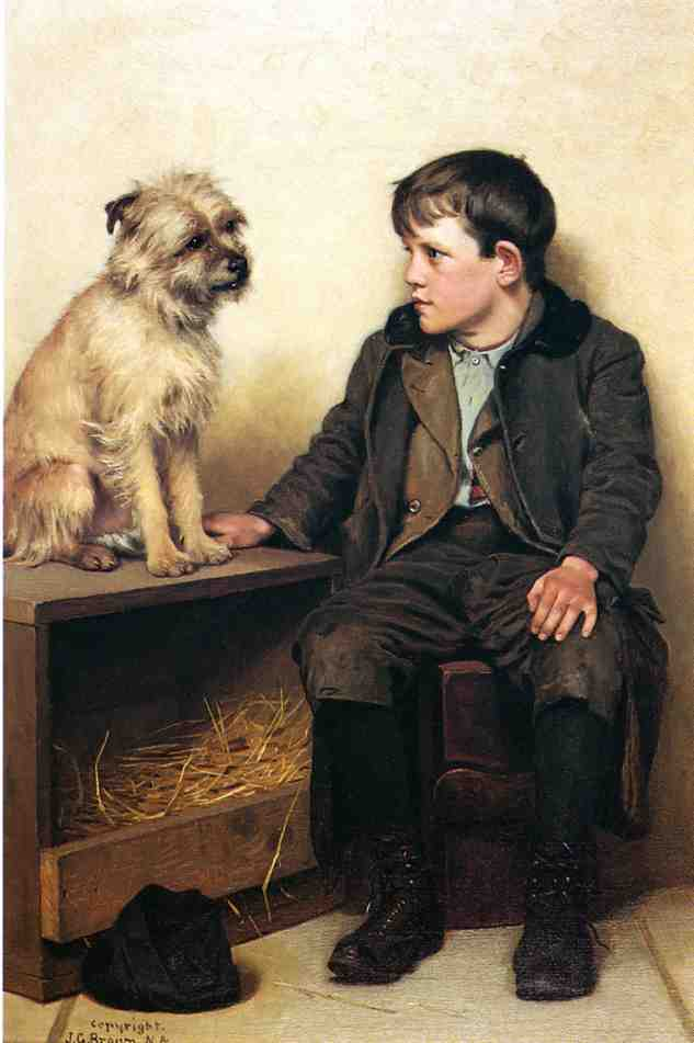 A Confab | John George Brown | Oil Painting
