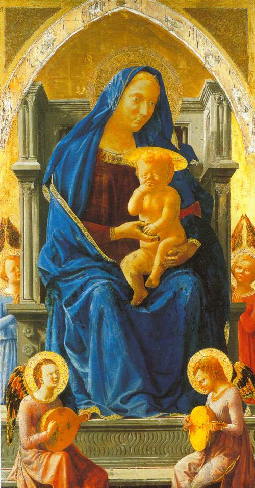 The Virgin And Child With Angels 1426 | Masaccio | Oil Painting