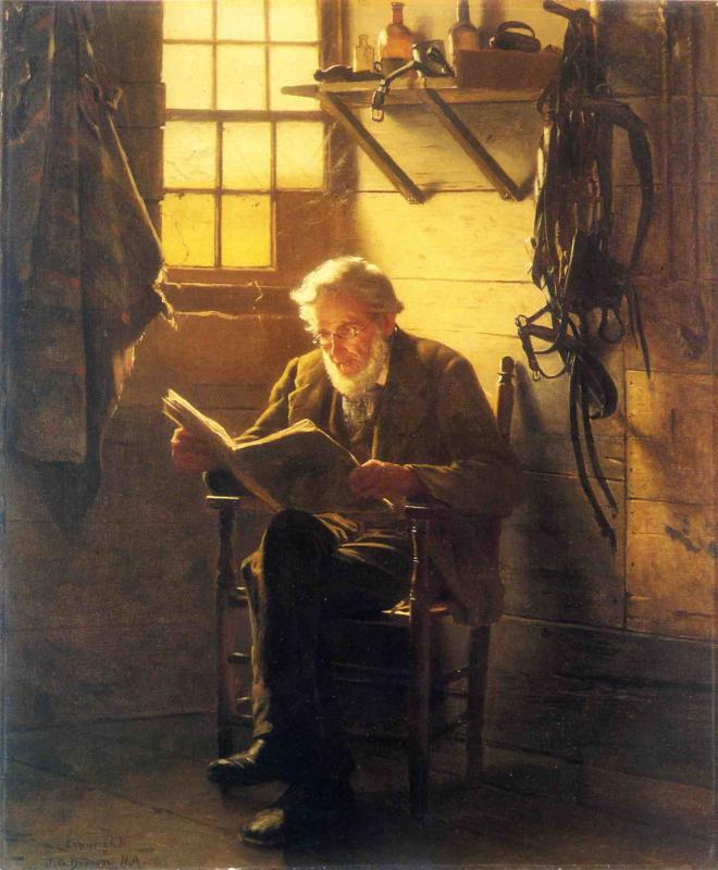 An Idle Hour | John George Brown | Oil Painting