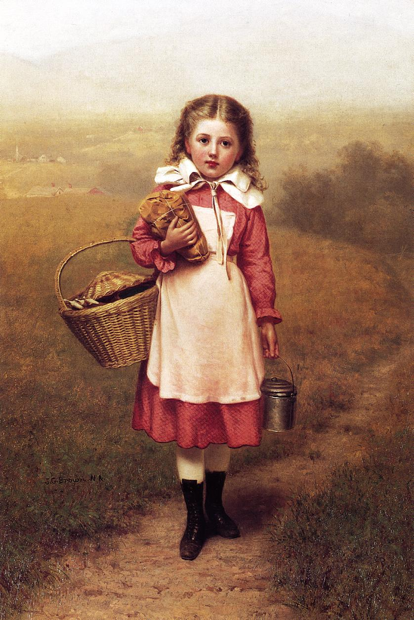 Autumn Landscape 1870 | John George Brown | Oil Painting