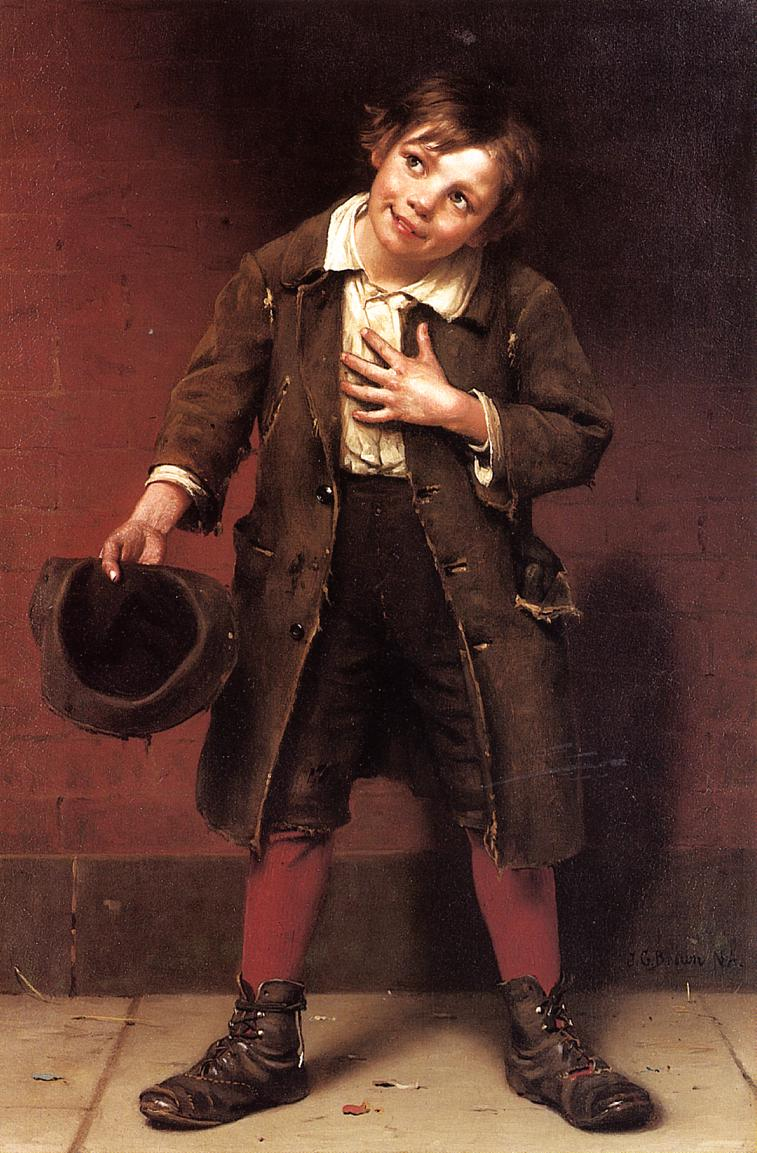 Beggar Boy 1885 1887 | John George Brown | Oil Painting