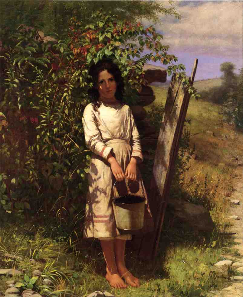 Blackberry Picking | John George Brown | Oil Painting