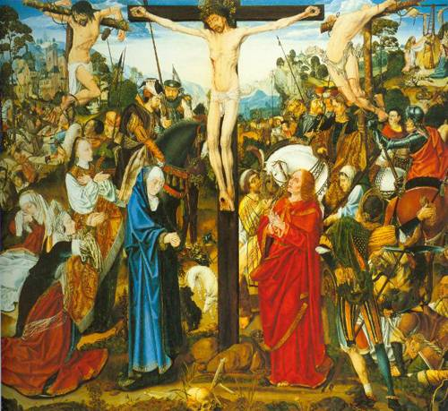 The Crucifixion 1495 | Master Of The Aachen Altarpiece | Oil Painting