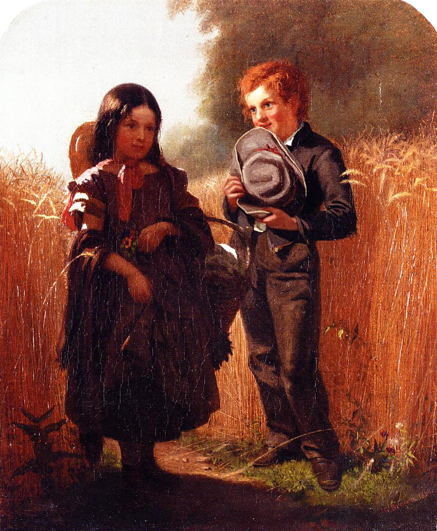 Comming Thro' the Rye 1860 | John George Brown | Oil Painting