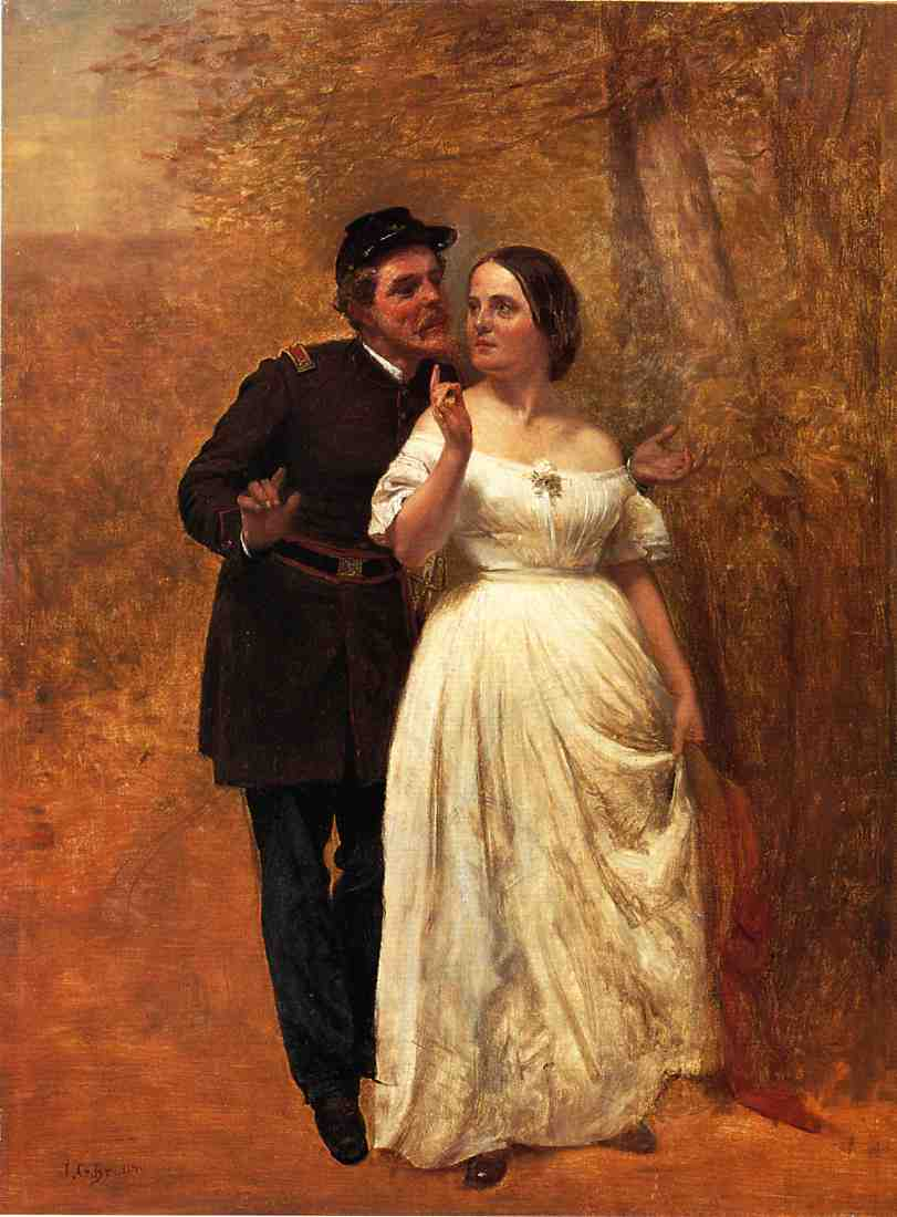 Courting | John George Brown | Oil Painting