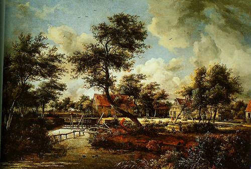 The Watermills At Singraven Near Denekamp 1665-1670 | Meindert Hobbema | Oil Painting