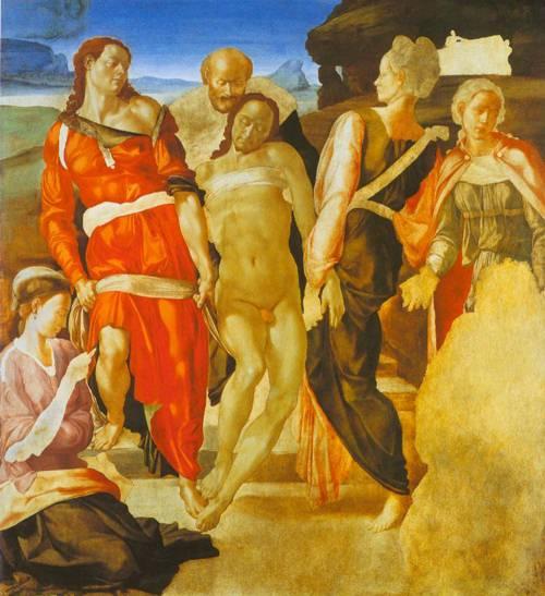 The Entombment 1497-98 | Michelangelo | Oil Painting