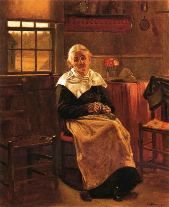 Dear Old Grannie | John George Brown | Oil Painting