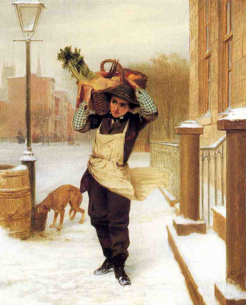 Delivery Boy 1863 | John George Brown | Oil Painting