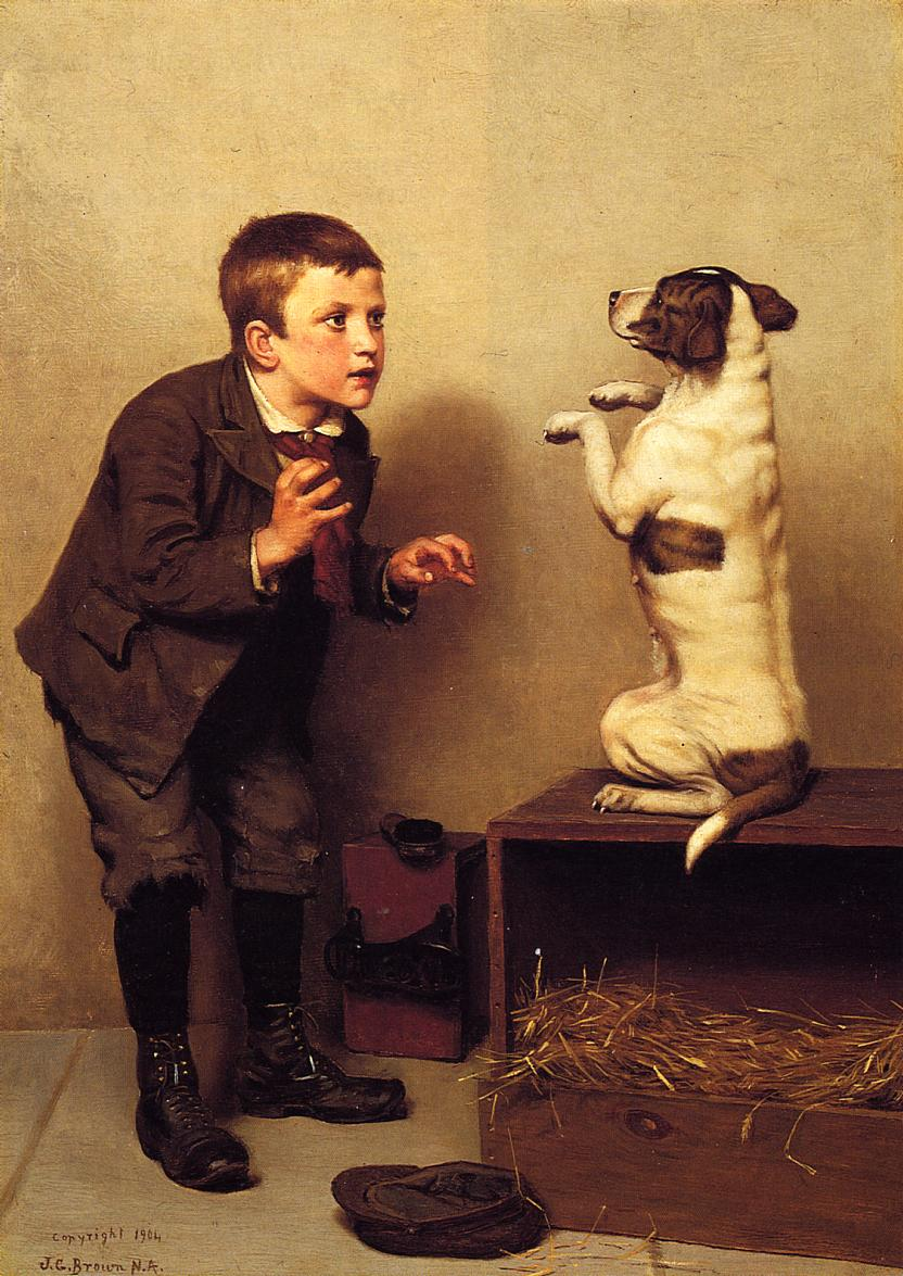 Don't Move 1904 | John George Brown | Oil Painting
