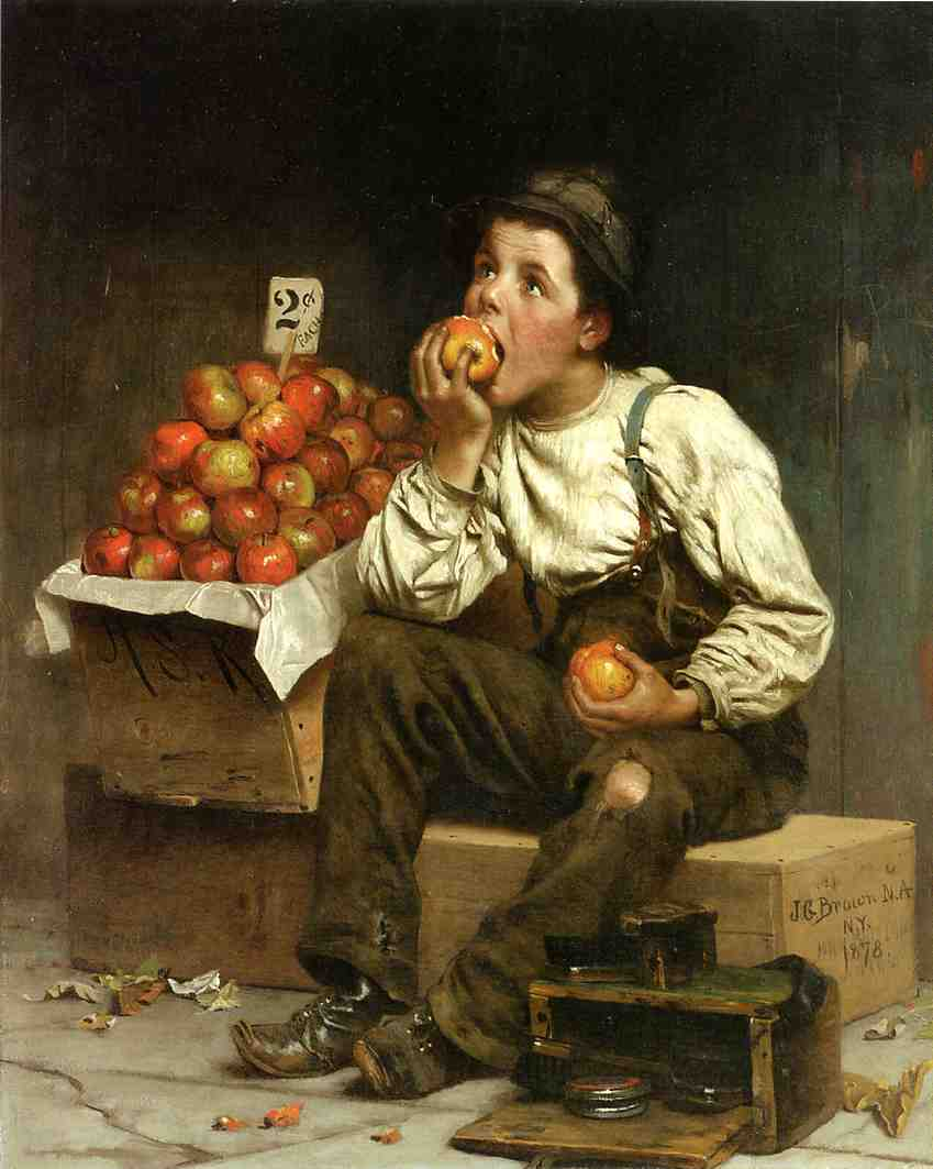 Eating the Profits 1878 | John George Brown | Oil Painting