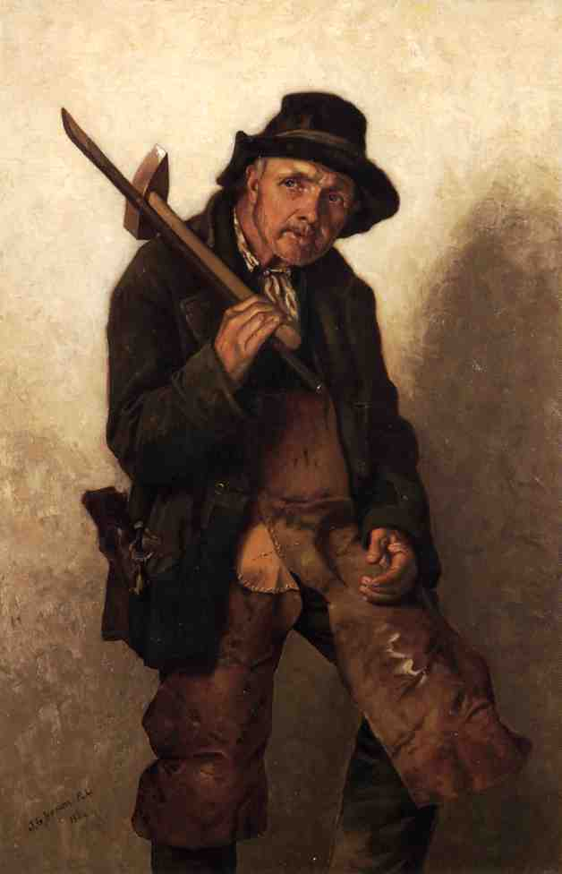He Toils at Eighty 1884 | John George Brown | Oil Painting