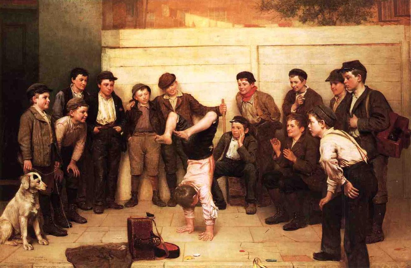Heels over Head 1894 | John George Brown | Oil Painting