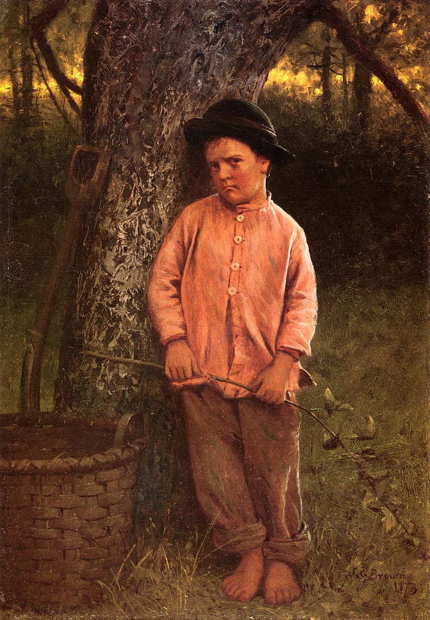 I Won't Go 1873 | John George Brown | Oil Painting