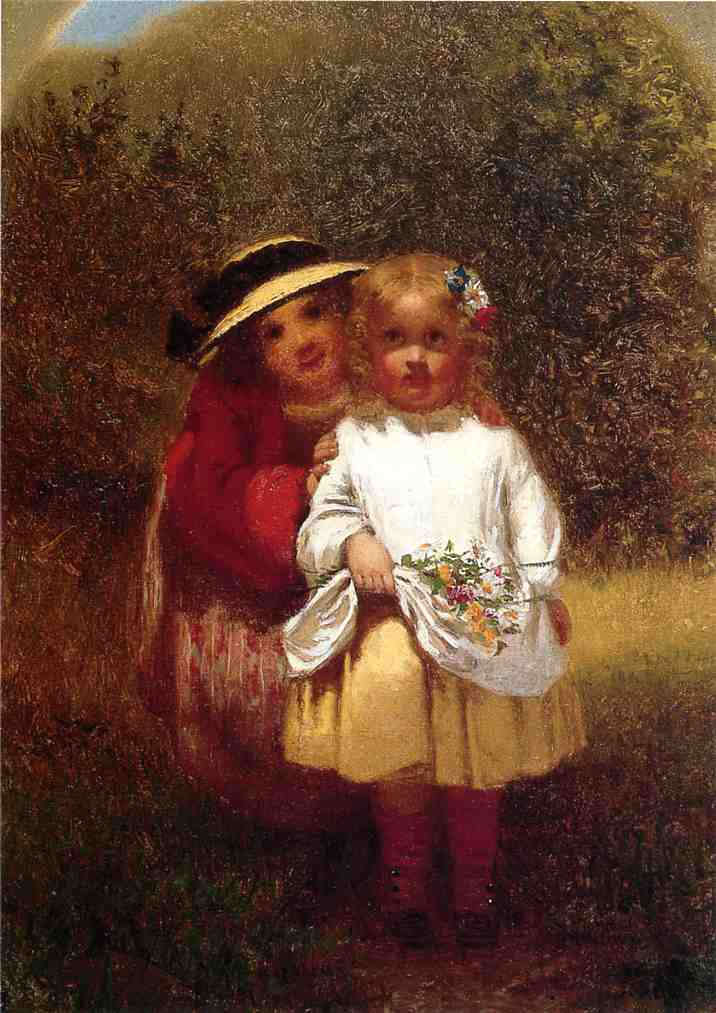 Learning to Curtsey 1863 | John George Brown | Oil Painting