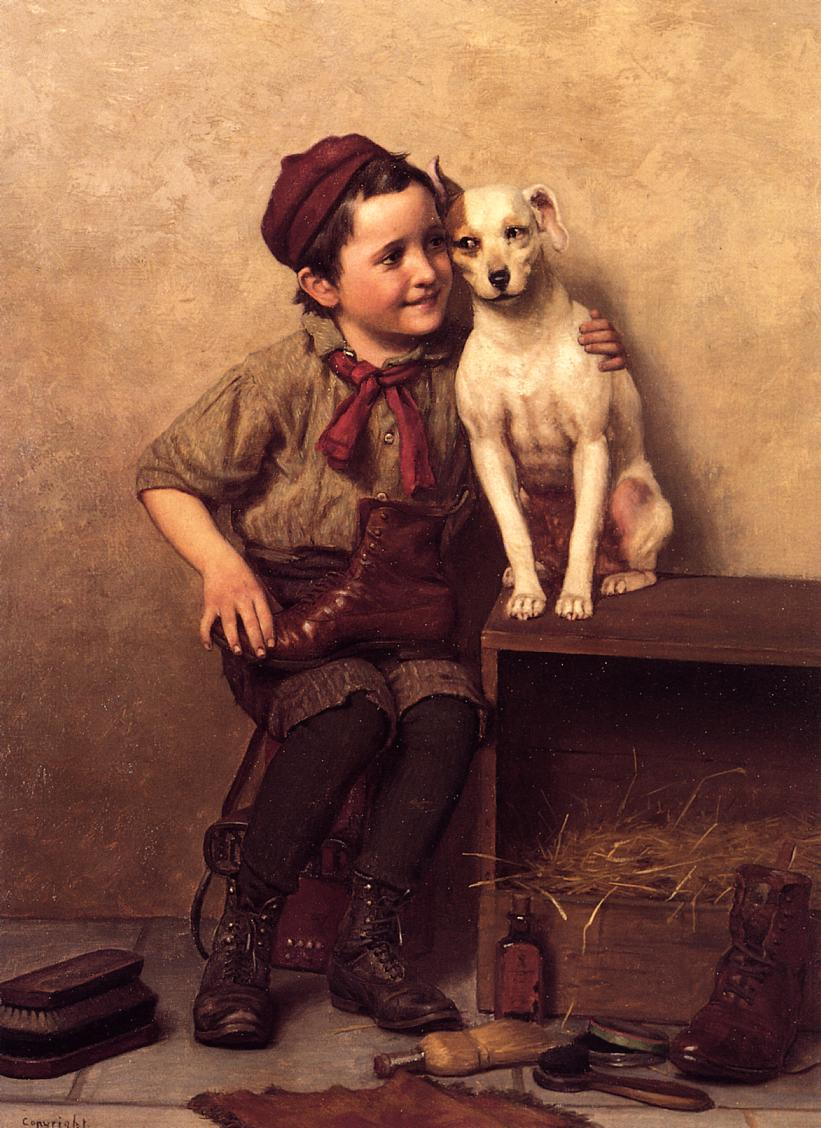 My Pardner | John George Brown | Oil Painting