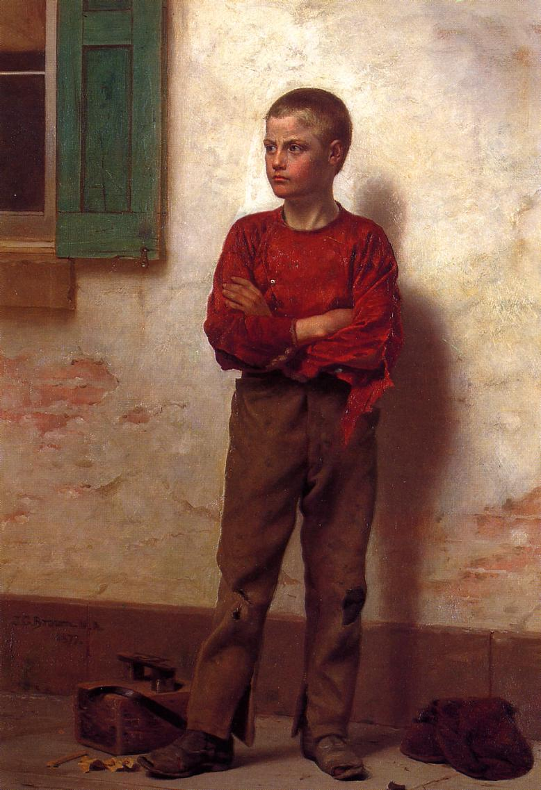 Not to be Trifled With 1877 | John George Brown | Oil Painting