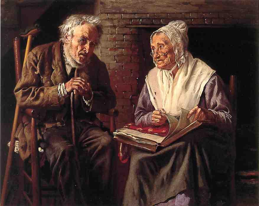 Old Memories 1883 | John George Brown | Oil Painting