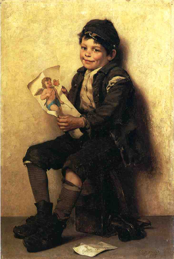 Paddy's Valentine 1885 | John George Brown | Oil Painting