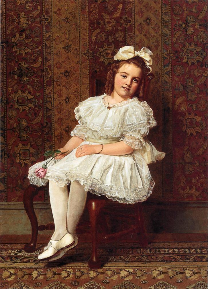 Portrait of Miss Gibson 1908 | John George Brown | Oil Painting