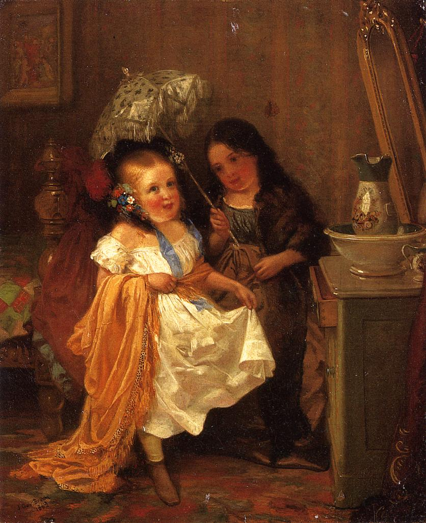 Putting on Airs 1862 | John George Brown | Oil Painting