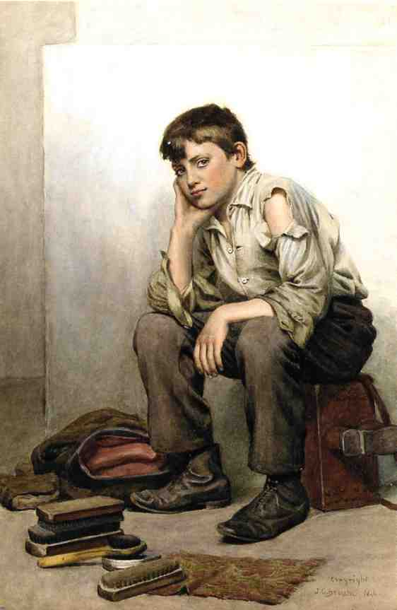 Shoe Shine Boy | John George Brown | Oil Painting