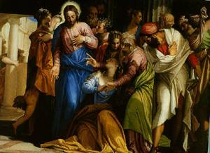 Magdalenes Conversion 1550   Paolo Veronese   Oil Painting
