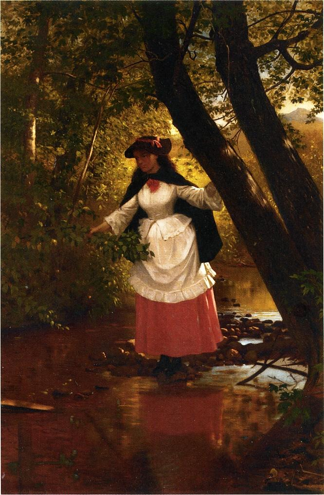 Stepping Stones | John George Brown | Oil Painting