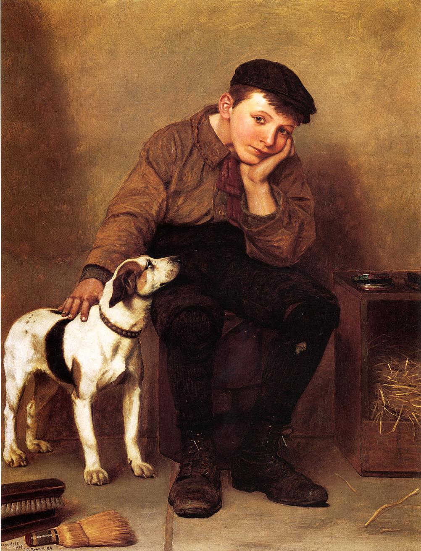 Sympathy 1909 | John George Brown | Oil Painting