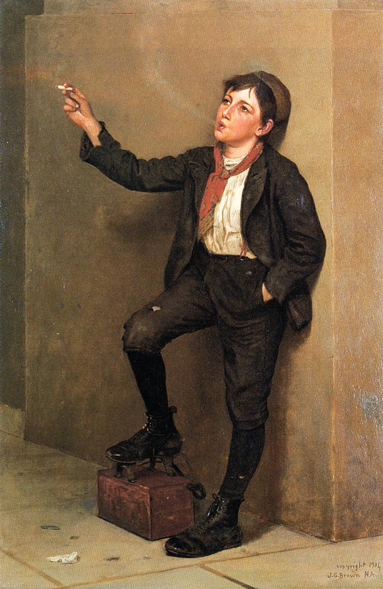 Taking a Break 1904 | John George Brown | Oil Painting
