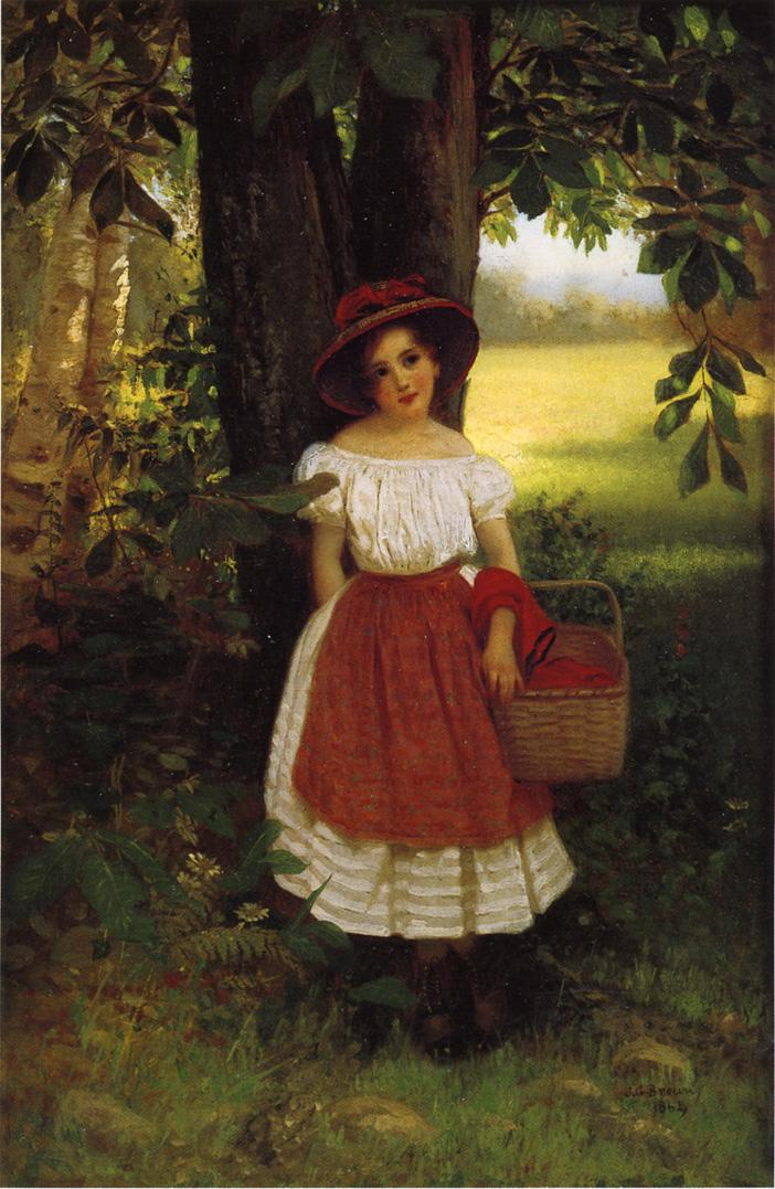 The Berry Picker 1864 | John George Brown | Oil Painting