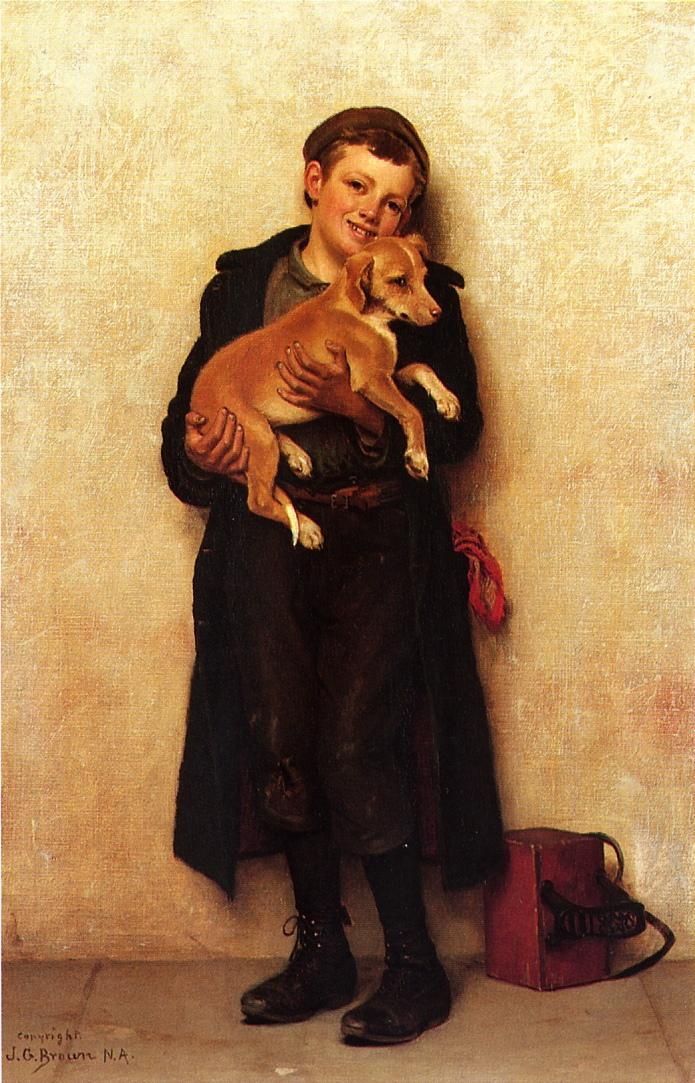 The Bootblack | John George Brown | Oil Painting