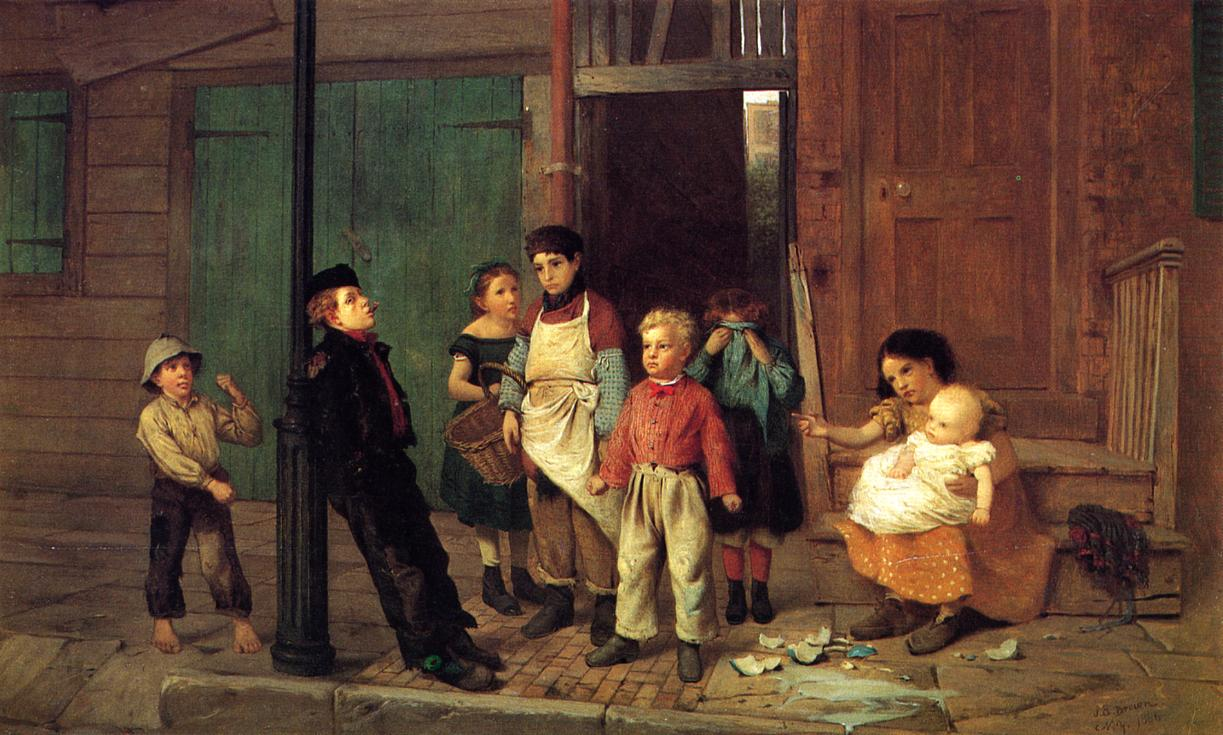 The Bully of the Neighborhood 1866 | John George Brown | Oil Painting