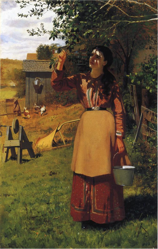 The Cherry Picker 1875 | John George Brown | Oil Painting