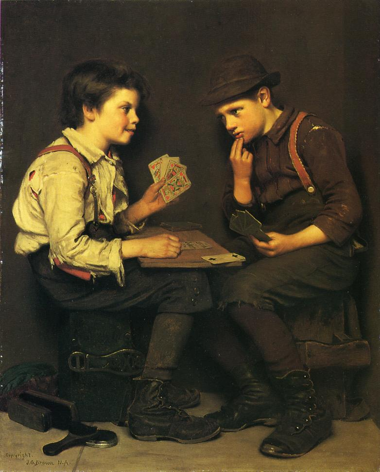 The Little Joker | John George Brown | Oil Painting