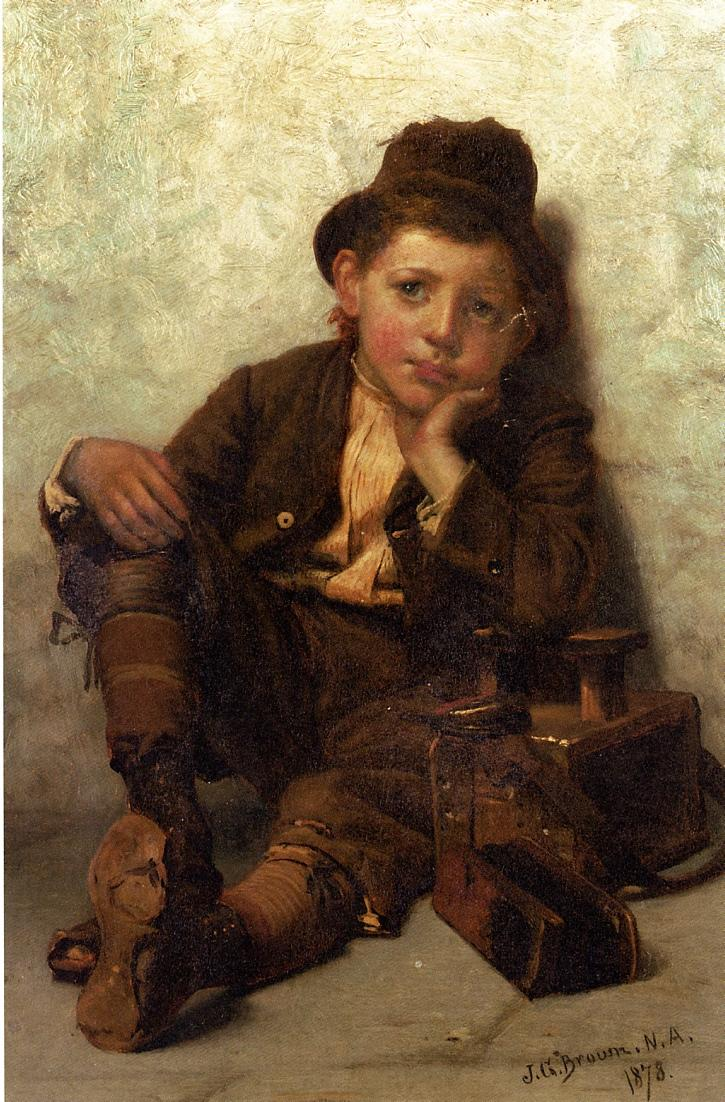 The Little Shoe Shine Boy 1878 | John George Brown | Oil Painting
