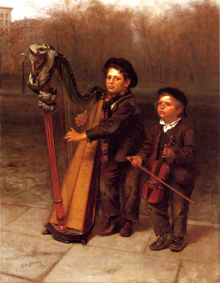 The Little Strollers 1874 | John George Brown | Oil Painting