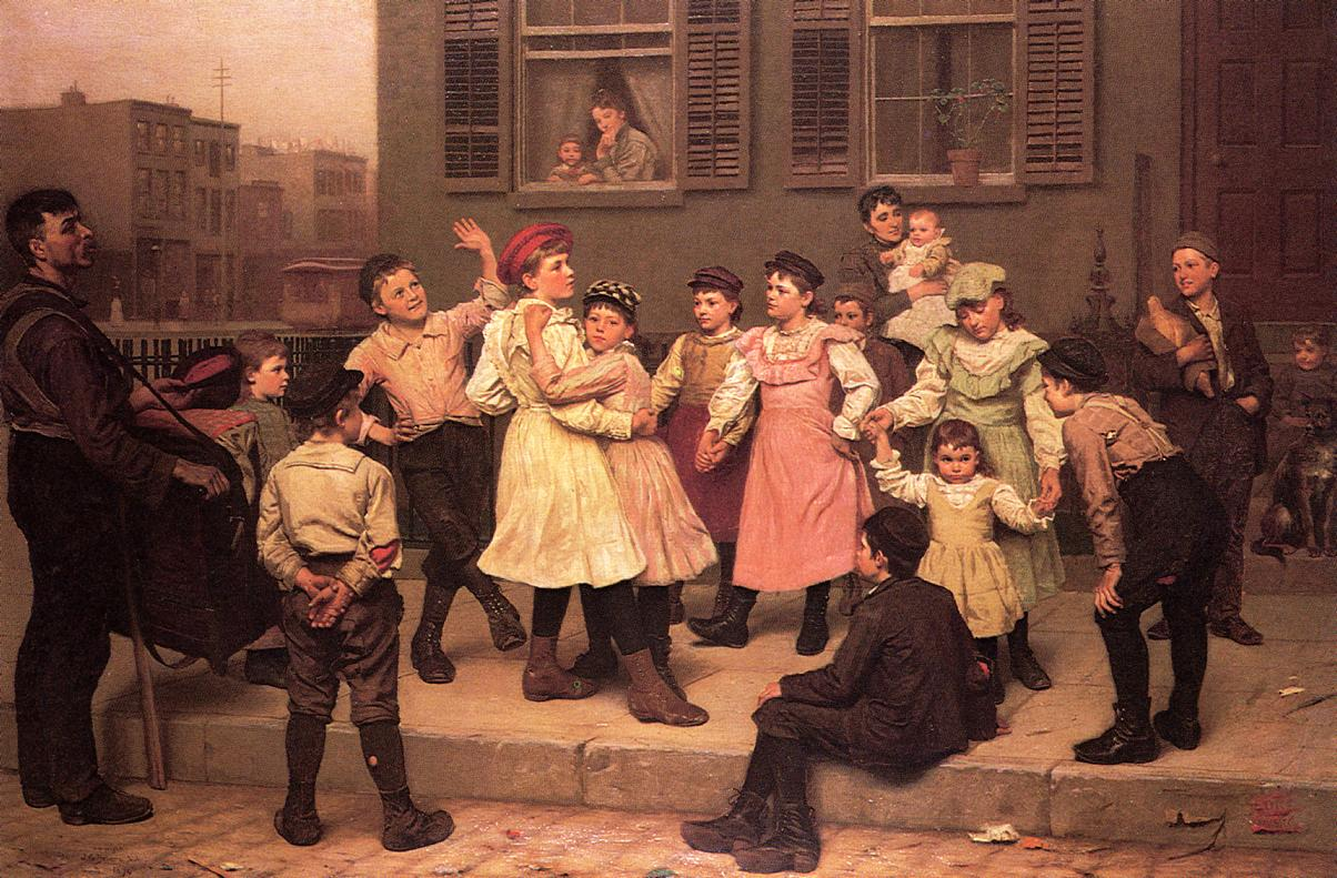 The Sidewalk Dance 1894 | John George Brown | Oil Painting