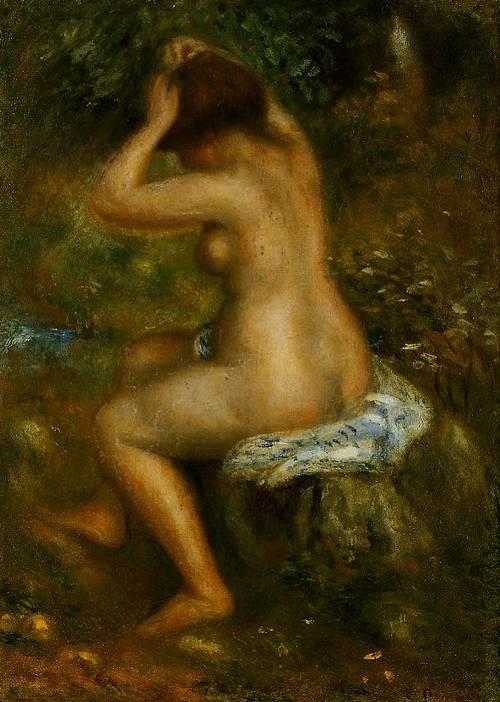 A Bather 1885-1890   Pierre-Auguste Renoir   Oil Painting