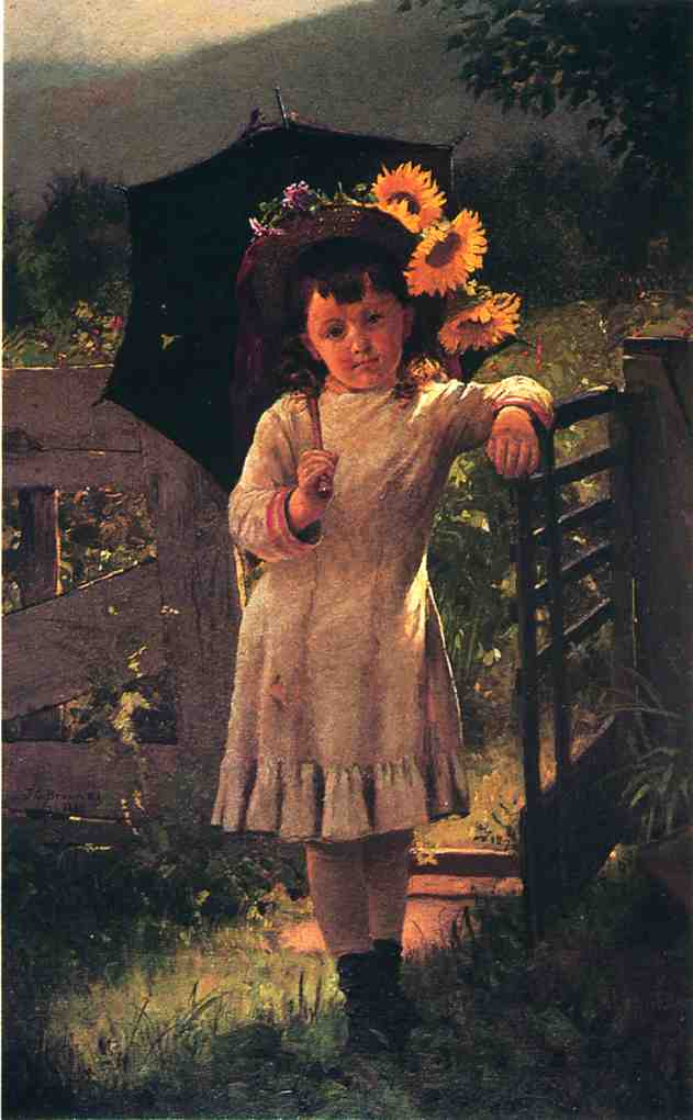 The Sunflower Girl 1880 | John George Brown | Oil Painting