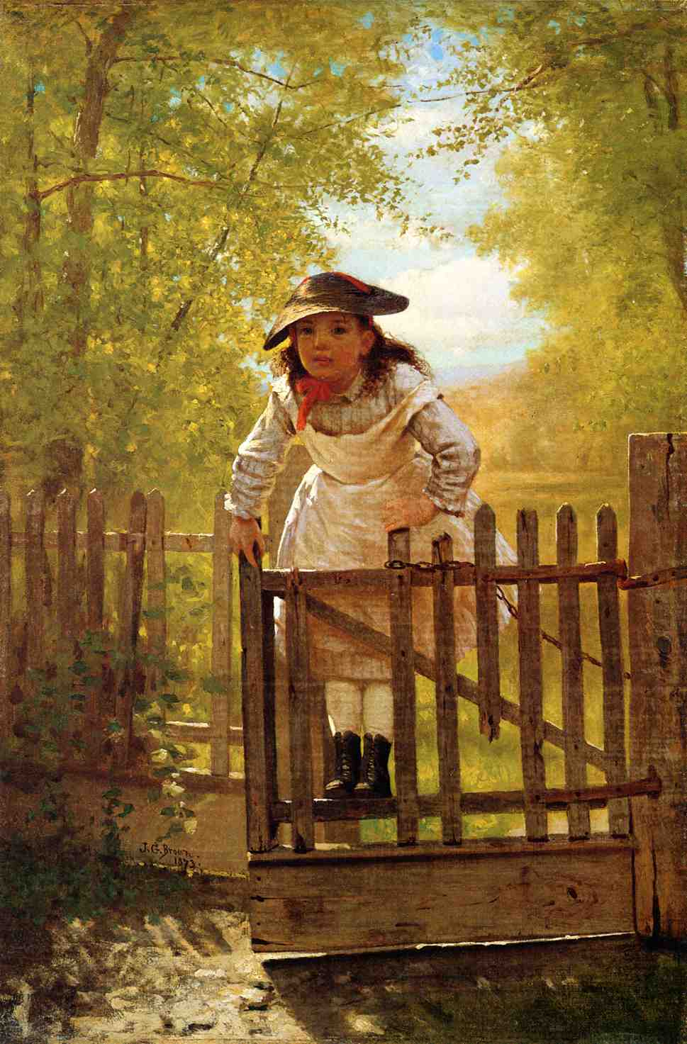 The Tomboy 1873 | John George Brown | Oil Painting