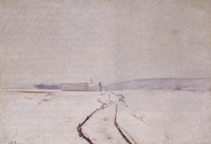 Along the River Winter 1887-1888 | John Henry Twachtman | Oil Painting