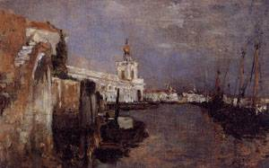 Canal Venice 1878 | John Henry Twachtman | Oil Painting