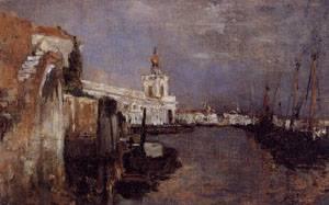 Canal Venice 1878 | John Henry Twachtman | Oil Painting