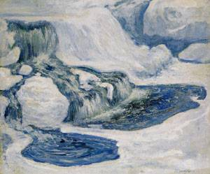 Falls in January 1895 | John Henry Twachtman | Oil Painting