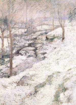 Frozen Brook 1893 | John Henry Twachtman | Oil Painting