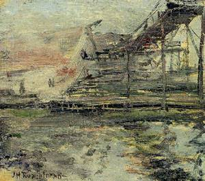 Harbor Scene 1900-1902 | John Henry Twachtman | Oil Painting