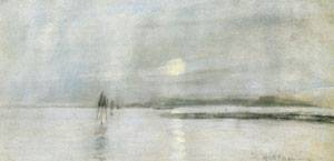 Moonlight Flanders 1885 | John Henry Twachtman | Oil Painting